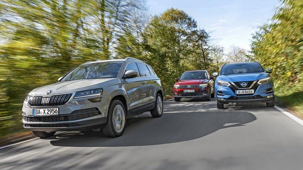 Comparativa: Skoda Karoq, Nissan Qashqai y VW Tiguan, ¿qué SUV interesa?