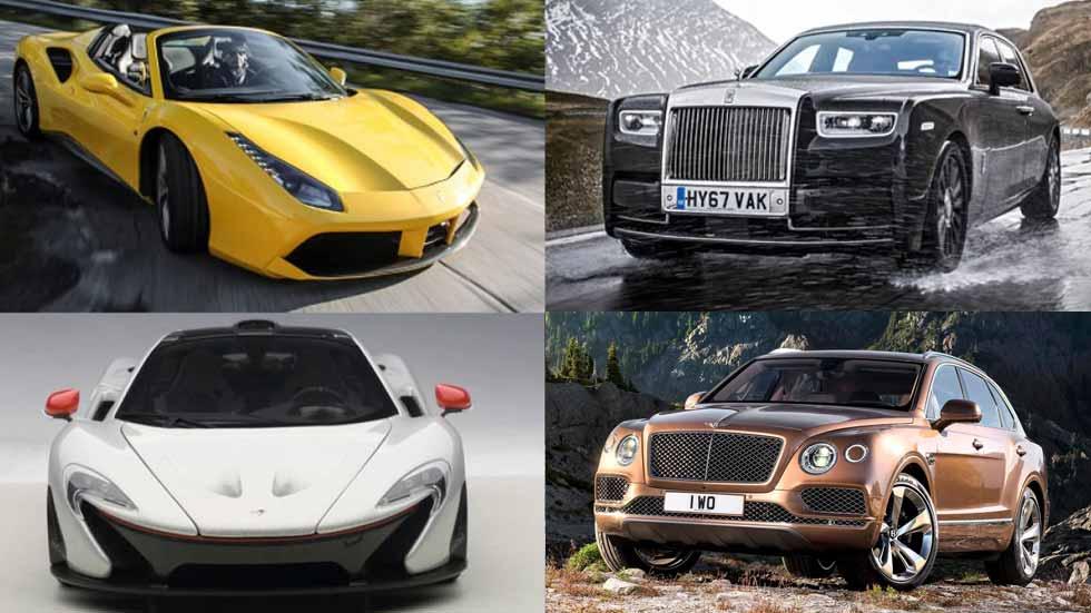 ¿Cuántos Lamborghini, Rolls-Royce y Ferrari se han vendido en 2017 en España?