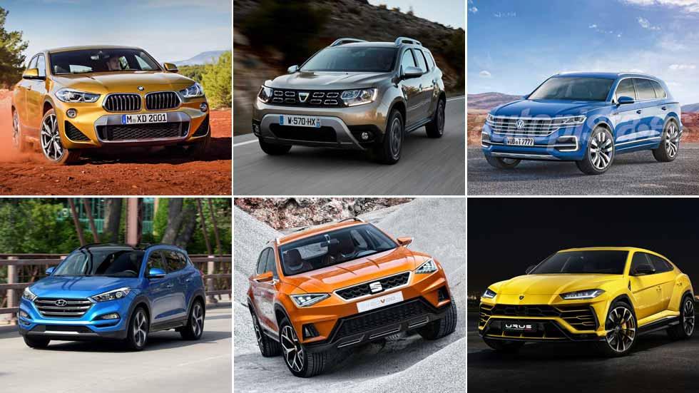 Hasta 60 nuevos SUV en 2018: Duster, Seat gran SUV, X2, Q8…