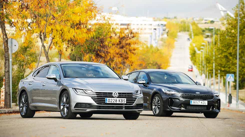 Kia Stinger CRDi vs VW Arteon TDI: ¿cuál es la mejor berlina Diesel?