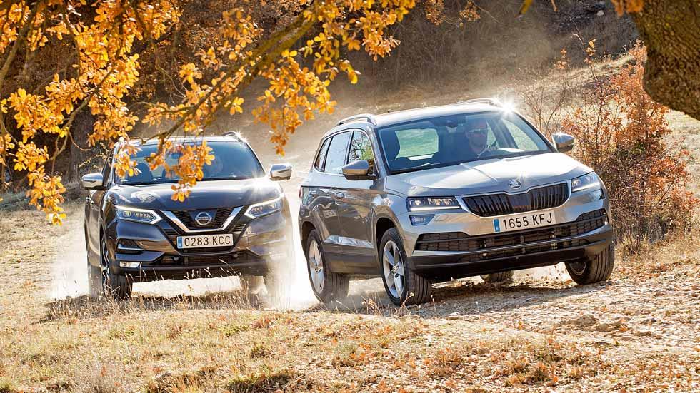 Comparativa SUV Diesel: Nissan Qashqai 1.5 dCi vs Skoda Karoq 1.6 TDI 115 CV