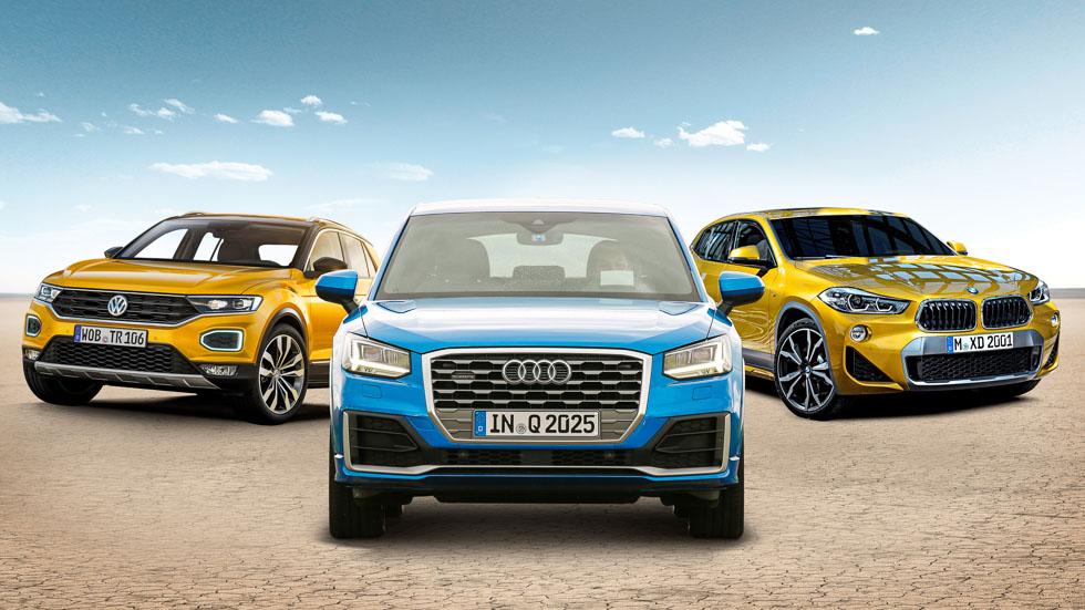 Audi Q2, VW T-Roc y BMW X2: analizamos tres nuevos (y exclusivos) SUV