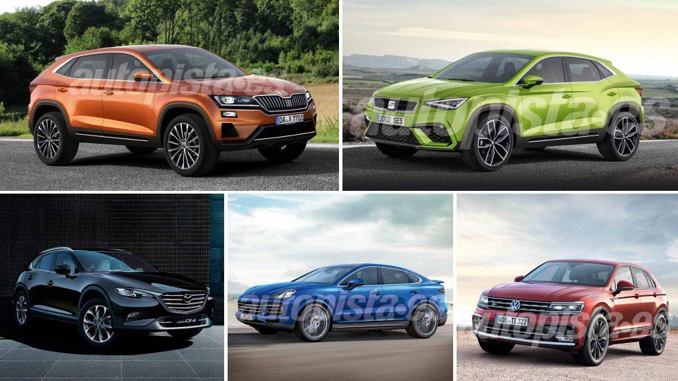 El boom de los SUV coupés: del Seat CUV a nuevos Tiguan, Sportage, Kodiaq…
