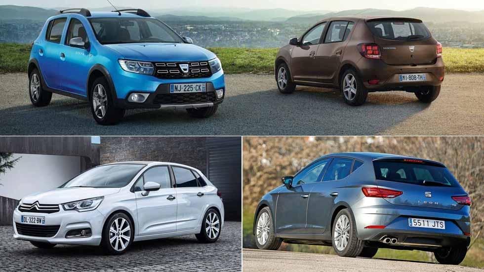 Los 10 coches más vendidos a particulares en España