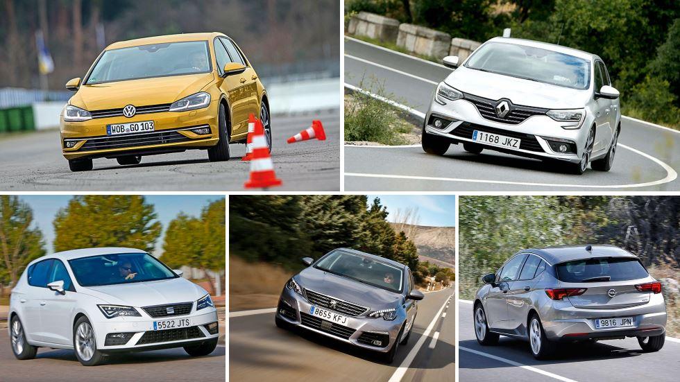 Los compactos Diesel más vendidos: Astra, 308, Mégane, León y Golf, ¿cuál es mejor?