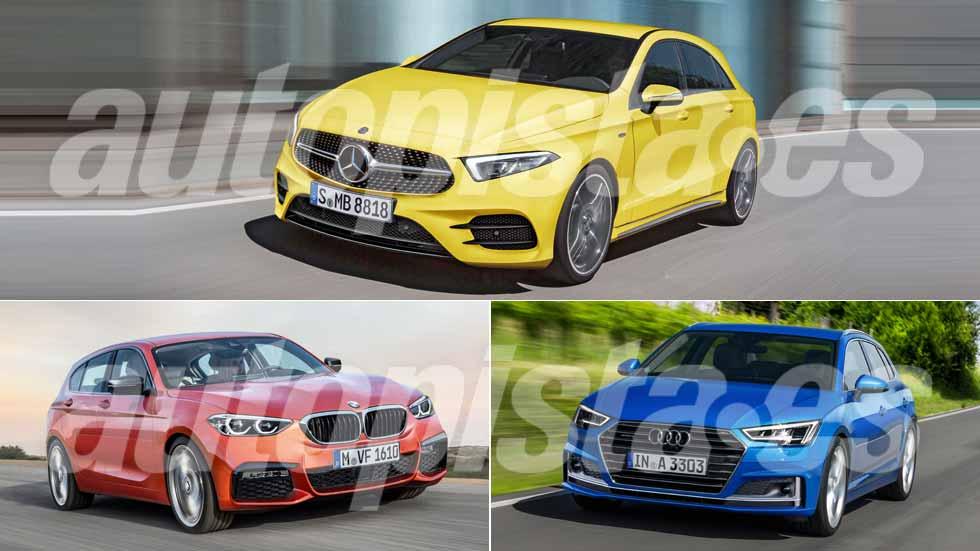 Mercedes Clase A, Audi A3 y BMW Serie 1: así serán sus nuevas generaciones