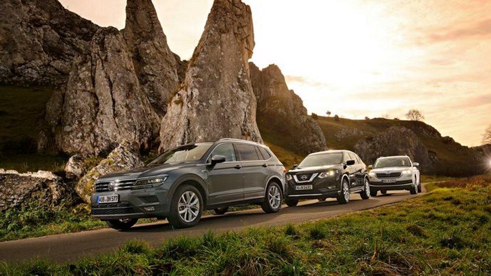 VW Tiguan Allspace, Skoda Kodiaq y Nissan X-Trail: ¿qué gran SUV es mejor?