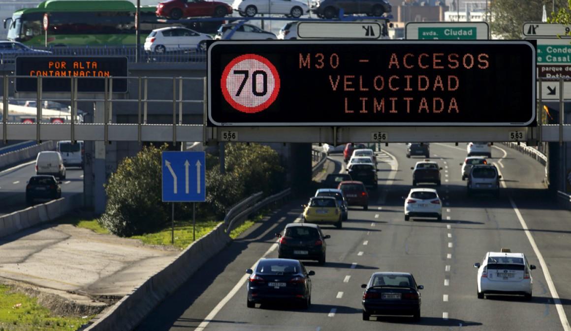 Madrid prohibirá la circulación a coches sin etiqueta ecológica