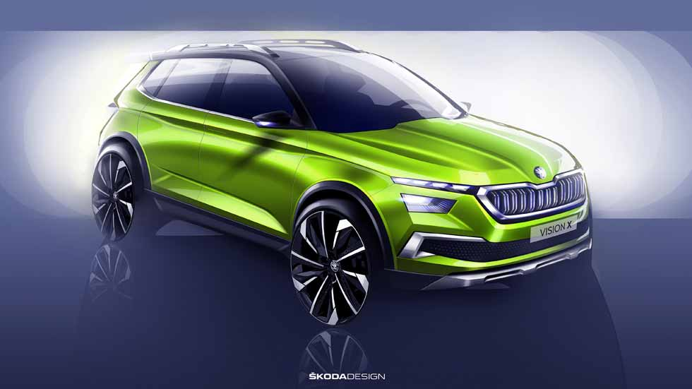 Skoda Vision X: el nuevo SUV pequeño se presenta como concepto en Ginebra