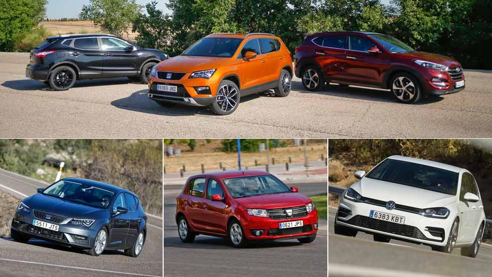 Los 10 coches y los 10 SUV más vendidos en España en enero