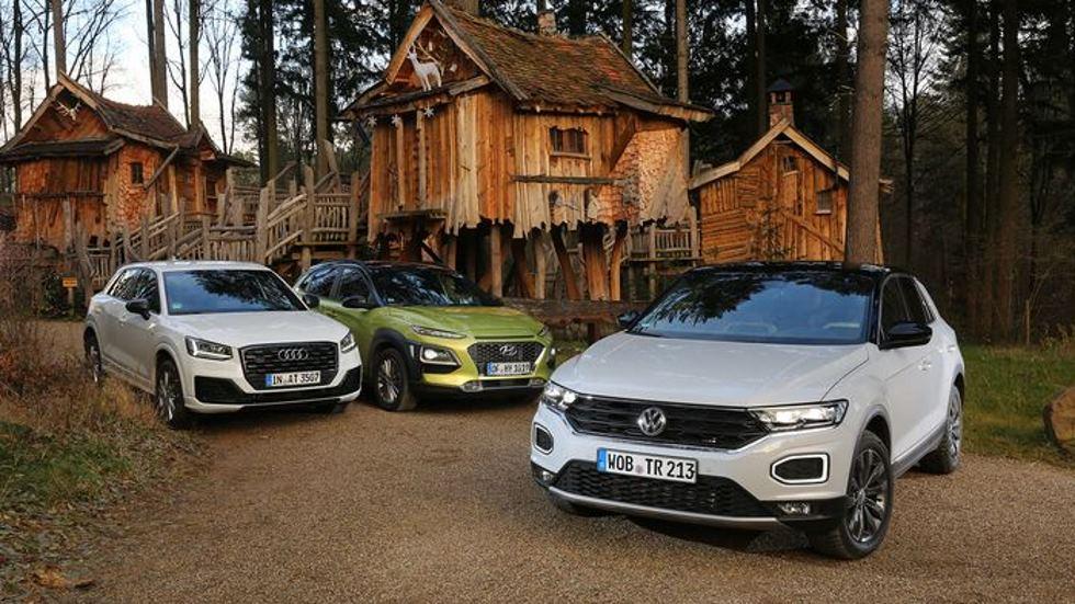 Comparativa: VW T-Roc vs Audi Q2 vs Hyundai Kona, ¿cuál es mejor?