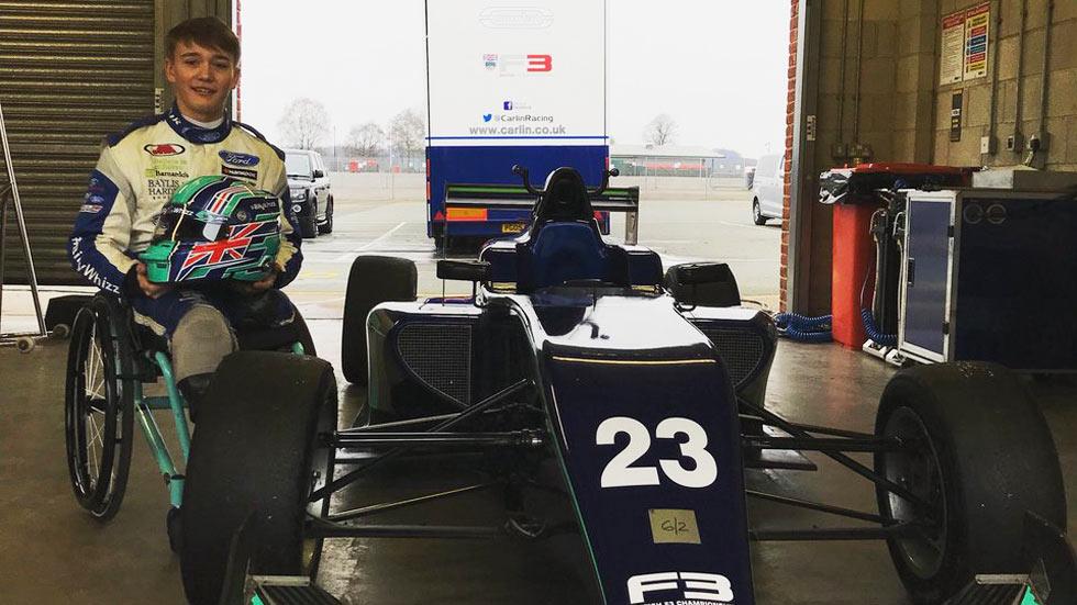 Billy Monger prueba un Fórmula 3: toda una historia de superación