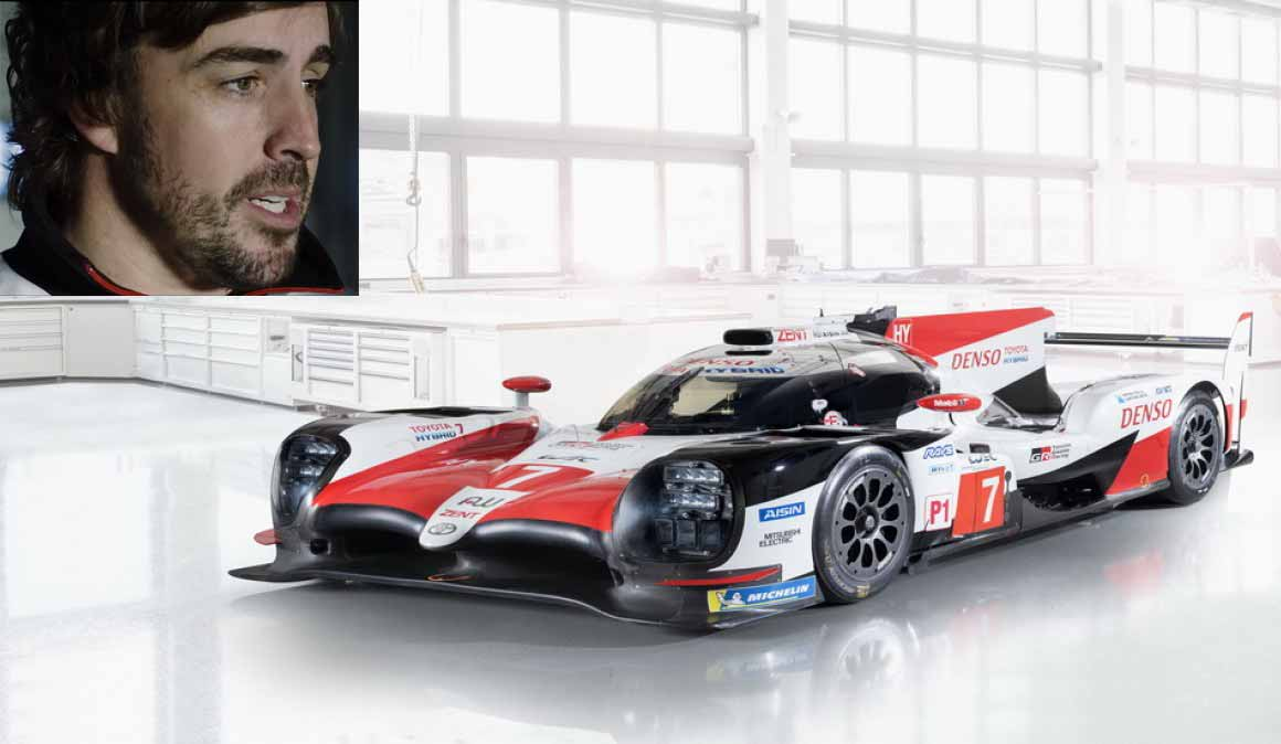 Alonso con su Toyota de Le Mans