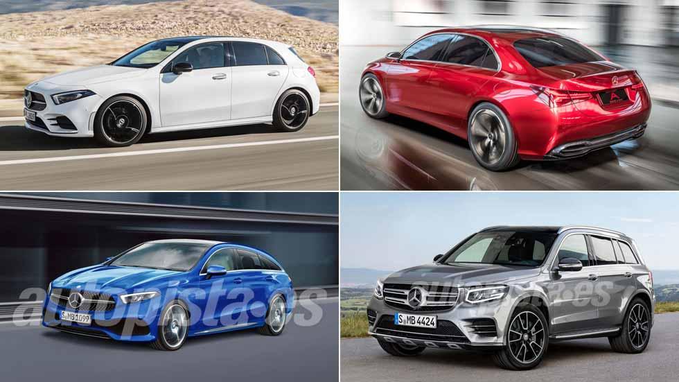El Mercedes Clase A 2018 derivará en un GLA, GLB, CLA...