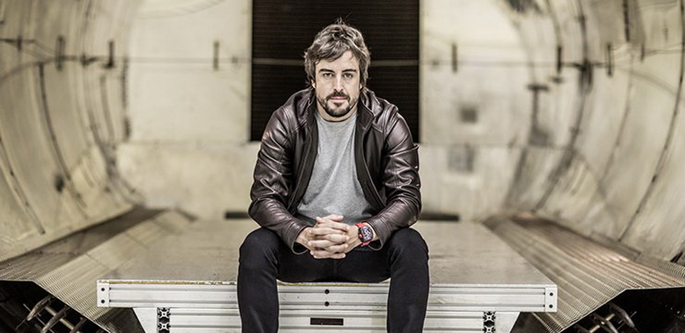 Fernando Alonso en el Mobile World Congress de Barcelona