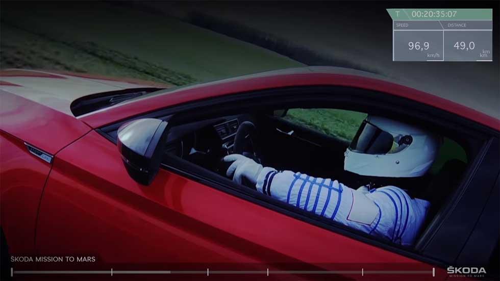 Skoda gana la carrera espacial a Tesla y llega a Marte