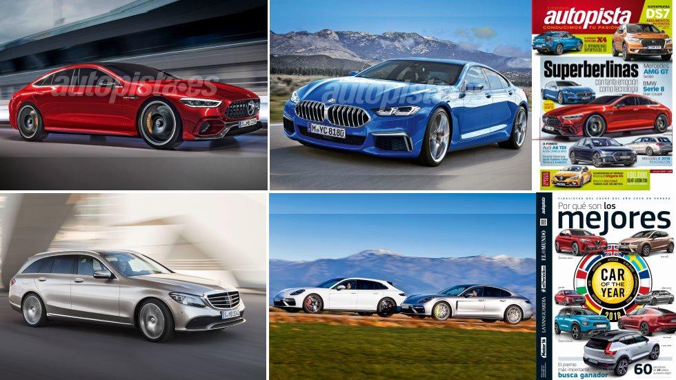 Revista Autopista 3043: superberlinas Mercedes Clase C, AMG GT, Serie 8, Audi A8…