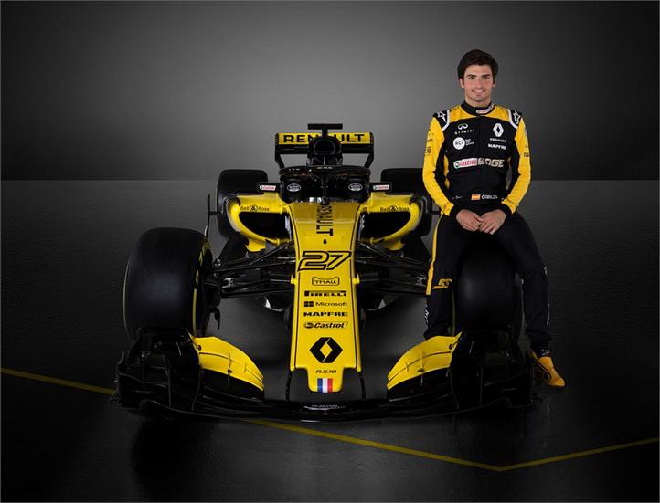 Renault presenta el nuevo RS18 de Carlos Sainz