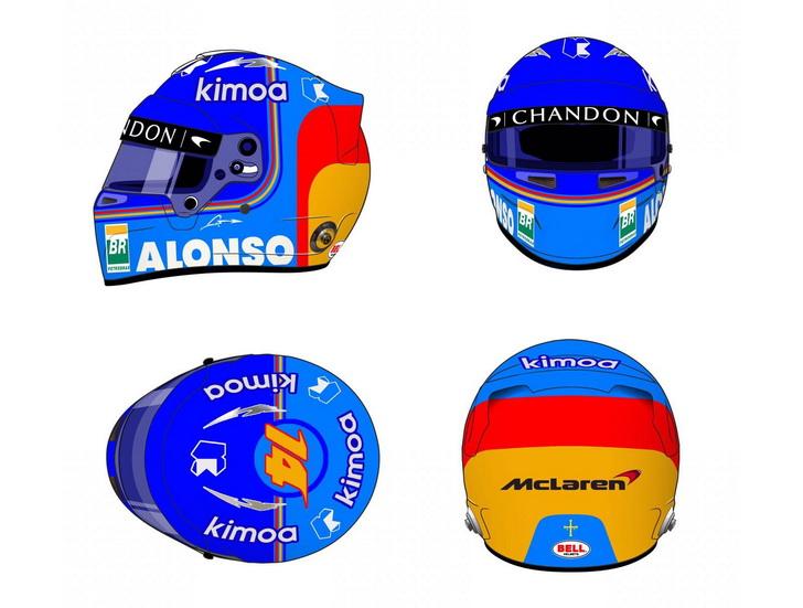 Fernando Alonso muestra cómo será su casco de F1