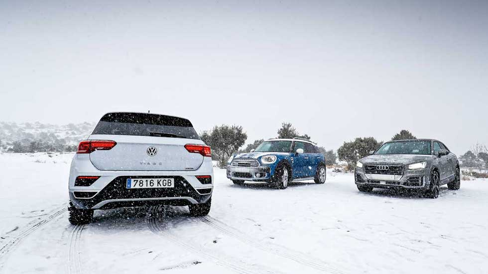 Supercomparativa SUV Diesel: Audi Q2, Mini Countryman y Volkswagen T-Roc