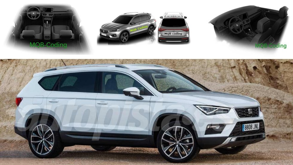 seat tarraco el nuevo gran suv de 7 plazas filtrado en fotos. Black Bedroom Furniture Sets. Home Design Ideas