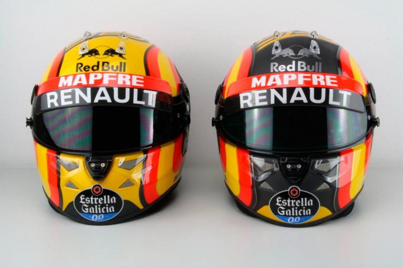 Sainz Jr. pide ayuda a sus seguidores para elegir el color de su casco