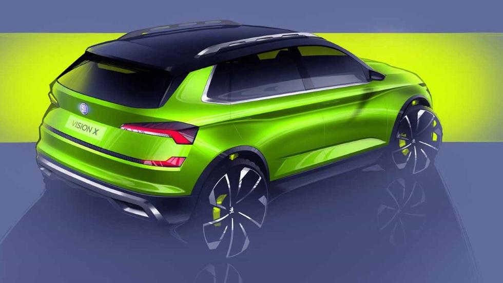 Skoda Vision X: espectacular SUV, triplemente híbrido