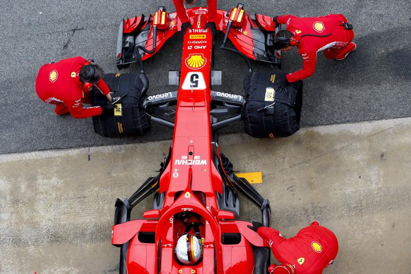 Test F1 Barcelona (martes): Vettel fue el más rápido de la segunda jornada