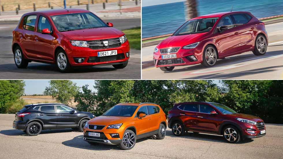 Los 10 coches y los 10 SUV más vendidos en febrero