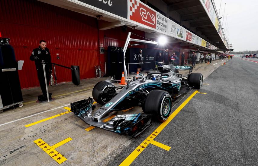Test F1 Barcelona (jueves): Lewis Hamilton marca el tiempo más rápido de los cuatro días
