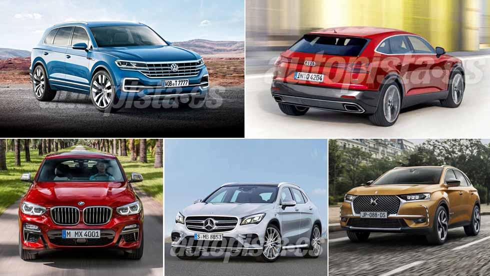 Todos los SUV premium que vienen: Audi Q4, VW Touareg, Mercedes GLA…