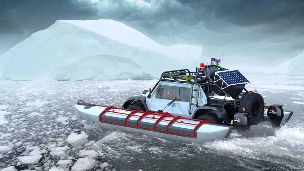 SCG Boot: el súper anfibio que quiere batir el récord de altitud de un 4x4