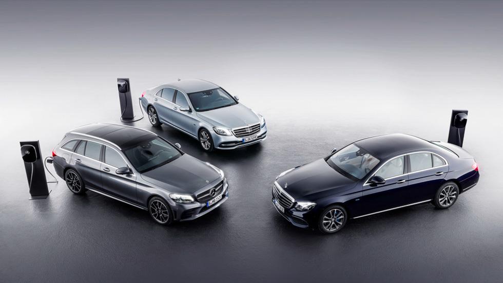 Los Mercedes Clase C y E, con nuevas versiones híbridas enchufables y Diesel