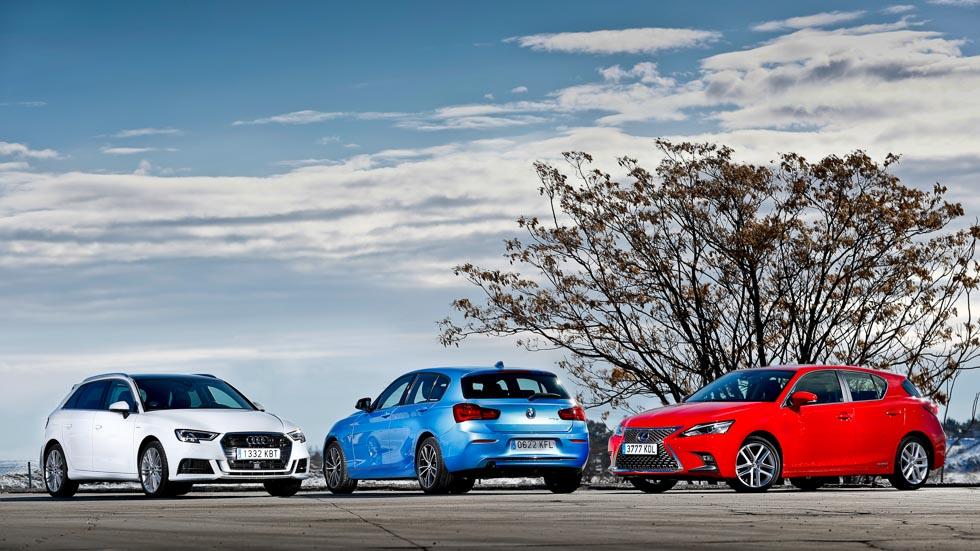 BMW 116d, Lexus CT 200h y  Audi A3 1.4 TFSI G-Tron: ¿Diesel, híbrido o gas natural?