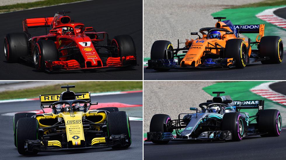 Fórmula 1: así son los equipos y sus monoplazas para el Mundial 2018