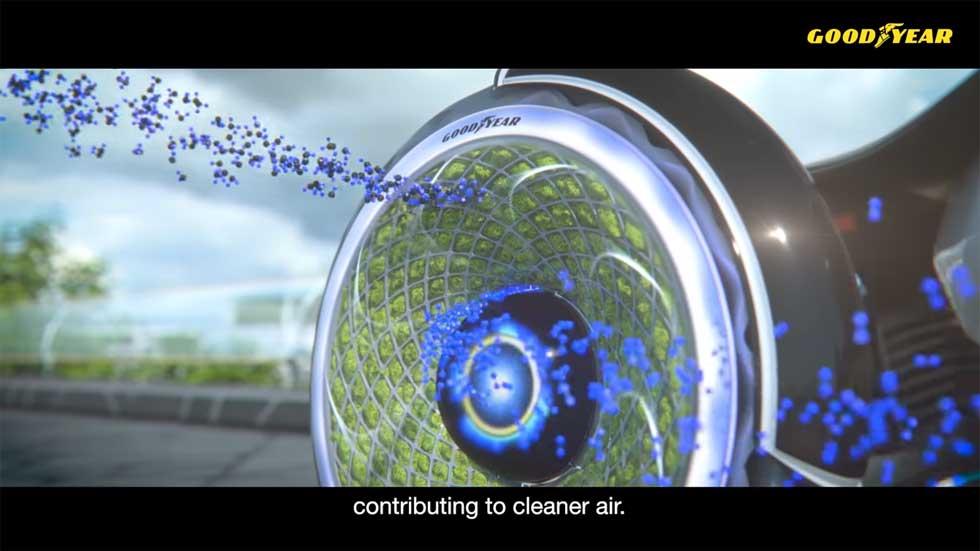 El neumático más ecológico del momento: realiza la fotosíntesis (Vídeo)