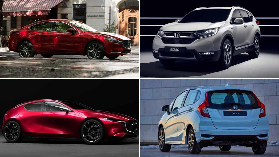 Las novedades que vienen de Honda y Mazda: CR-V, Mazda6, Mazda3…