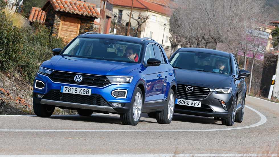 VW T-Roc vs Mazda CX-3: ¿qué SUV es mejor? Los probamos con motores de gasolina