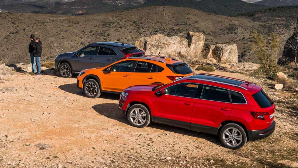 Mitsubishi Eclipse Cross, Skoda Karoq y Subaru XV: ¿qué SUV de gasolina es mejor?