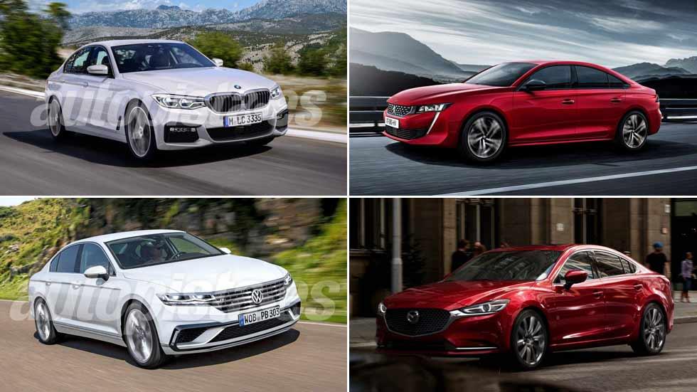 ¡Revolución en las berlinas! Nuevos 508, Mazda6, Mondeo, Passat, Clase C…