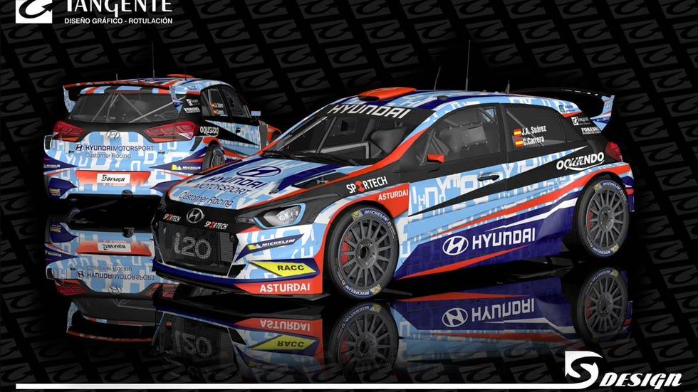 """""""Cohete"""" Suárez, con un Hyundai i20 R5 en el Nacional de Rallyes"""