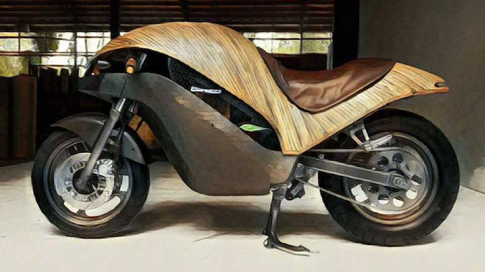Así es la moto ecológica total: eléctrica y fabricada con bambú (Vídeo)