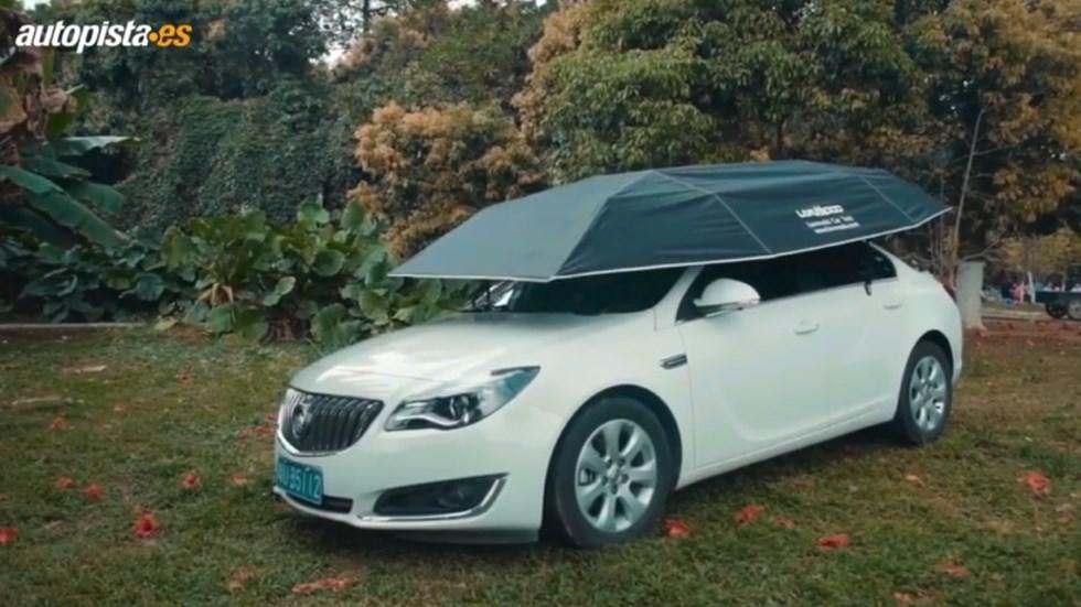 """El primer """"tejado"""" automático para coches: aísla, protege y evita daños (VÍDEO)"""