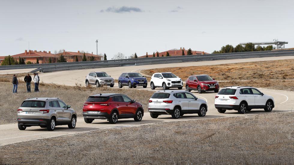Comparativa SUV: Qashqai, Ateca, 3008, Tiguan, Sportage, Karoq, Tucson y Grandland X