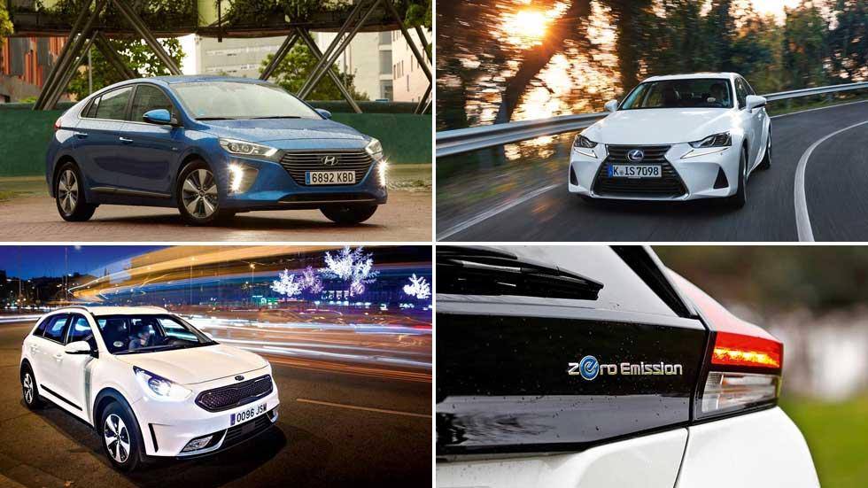 Los 10 coches híbridos y eléctricos más vendidos en España: ránking