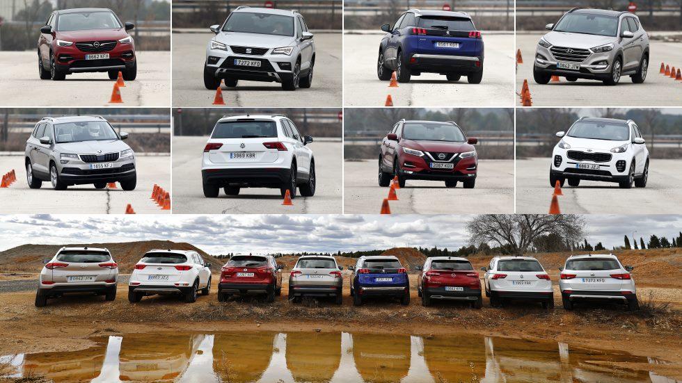 El SUV más dinámico: Qashqai, Ateca, 3008, Tucson, Sportage, Karoq, Tiguan y Grandland X