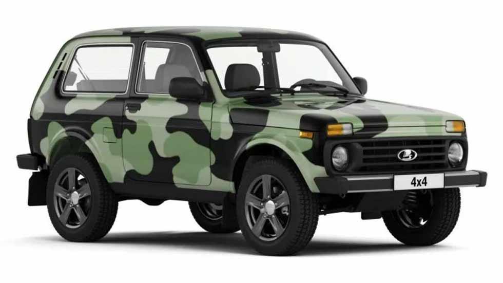 Lada Niva 4x4 2018: más guerrero que nunca con traje de camuflaje incluido