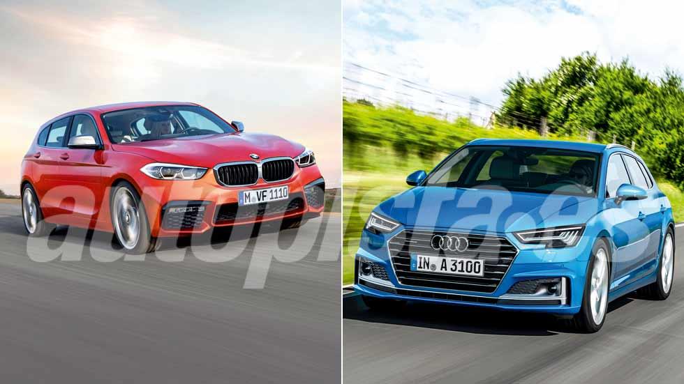 Audi A3 2018 y BMW Serie 1 2019: duelo de nuevos compactos premium