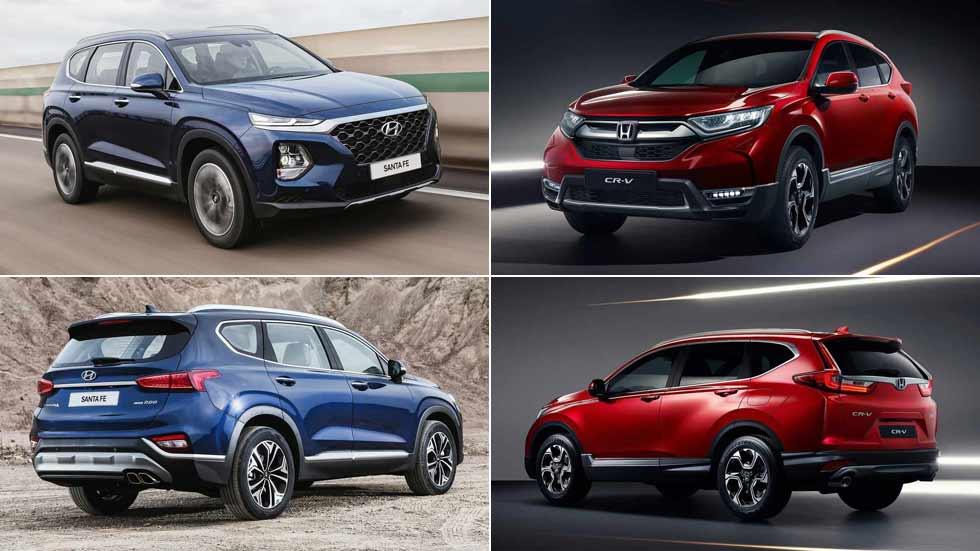 Hyundai Santa Fe y Honda CR-V: el nuevo gran duelo SUV de 7 plazas