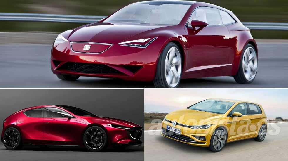 Mazda3, Seat León y VW Golf: los nuevos compactos que llegarán en 2019